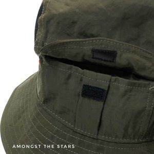 Nike Accessories - Nike Army Green & Red Plaid Pocket Bucket Hat D.Y.